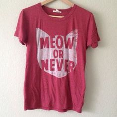 """""""meow or never"""" cat shirt"""