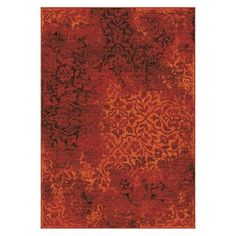 Clayburn Overdye Area Rug Red $168