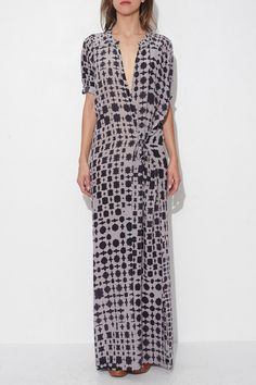 Blackish Long Print Dress by Humanoid | shopheist.com