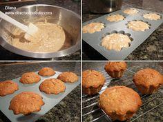 MuffinsBananaAvena_1 Deli, Cereal, Cupcakes, Chocolate, Breakfast, Recipes, Food Ideas, Crumpet Recipe, Buns