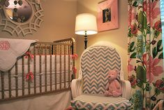 Painted Jenny Lind Crib/ pretty color palette