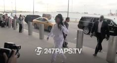 Rihanna Makes White Sweatsuit Look Chic as she Catches a Flight in NYC - http://bit.ly/2gDEpMT #Badgalriri, #JFKAirport, #JimmyChoo, #NYC, #OffWhite, #PalaceSkateboards, #Rihanna, #RihannaNavy, #RiRi