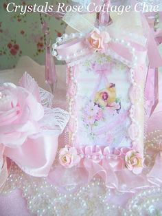Shabby Chic Pink Easter Tag
