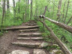 The stairways to Skyrim and Yellow Springs Ohio
