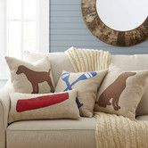 Inspiration for outline of Lucy on a pillow.Lakeview Pillow Cover Collection #birchlane