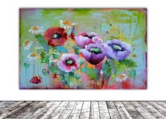 Buy SUMMER PAPAVER - Floral Painting -55x5x1.5 cm, Modern Ready to Hang Painting - Flower, Poppy, Popies Acrylics Painting, Acrylic painting by Soos Roxana Gabriela on Artfinder. Discover thousands of other original paintings, prints, sculptures and photography from independent artists.