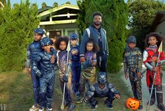 Black Panther's Ryan Coogler and trick-or-treaters in Leimert Park, Los Angeles. Photographed by Annie Leibovitz for Vanity Fair, November 2018 Hall of Fame feature. Ryan Coogler, Annie Leibovitz Photography, Bored Kids, National Portrait Gallery, John Lennon, Portrait Photographers, Portraits, Black Panther, Vanity Fair