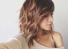 2016 Long Wavy Inverted Bob Hairstyle