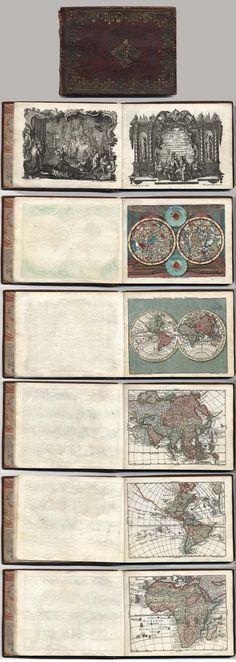 Miniature antique atlas to print