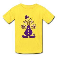 Circus clown on a T-Shirt. #Spreadshirt #Cardvibes #Tekenaartje