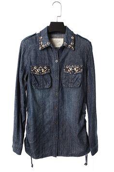 pocket long sleeve flora shirt