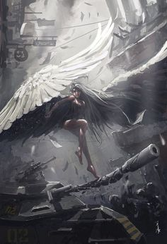 The Angel of War, averting the guns and absorbing the bullets.
