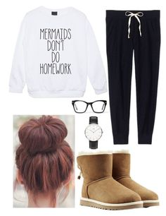 After school lazy day by josie2015 ❤ liked on Polyvore featuring Victorias Secret, UGG Australia, Spitfire, Daniel Wellington, josie2015collections and lazydaylover
