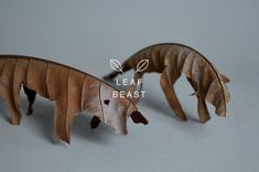 Japanese artist Baku Maeda (previously) has created beautifully simple animal sculptures out of cut magnolia leaves in his delightful series Leaf Beast (part 1 and part 2). photos via Baku Maeda vi...