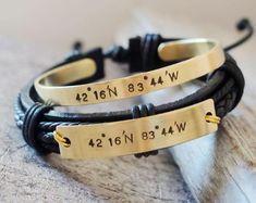 bcc68f1ad Personalized Couple bracelets Coordinate Bracelets boyfriend girlfriend jewelry  personalized bracelet, Long distance relationship Bracelet