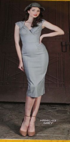 PRE ORDER New Stop Staring HERMOSA Grey fitted dress- HRMIL-03 GREY, HRMOSA-03 GREY