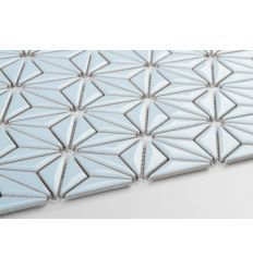 Dimension of the patch: 290 x 12 patches + 1 slice per cut Single cube dimension: 48 x 15 mm Thickness: 4 mm Impermeable, Water absorption from - Ral color: light blue shade Finish: glazed The product is sold per The minimum order value is Blue Mosaic, Blue Tiles, Mosaic Tiles, Light Art, Light Blue, Ral Colours, Diamond Art, Arabesque, Constellations