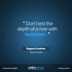 This #conversion insight is an #AfricanProverb by Baganzi Andrew. Click to download the Free Ultimate Guide to A/B Testing.