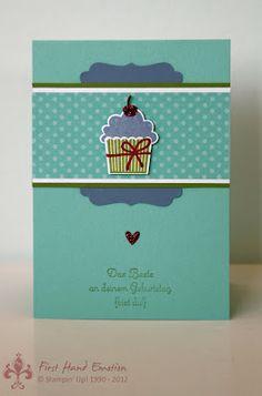 Stampin' UP! Geburtstagstörtchen Cupcake Stanze by First Hand Emotion