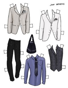 DANIELLE MEDER SS14 Menswear Paper Doll – Paul Smith and JOHN VARVATOS   3