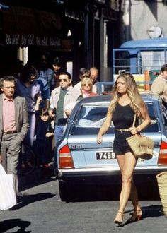 Brigitte Bardot in Saint Tropez, 1975.