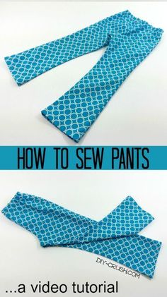 How to sew pants. This video tutorial teaches you how easy it is to sew a pair of flared pants. All you need is a simple pants pattern |DIY Crush