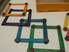 Craft stick magnet shapes