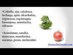 Alimentos que Ayudan a Quemar Grasa www.quematugrasaya.com