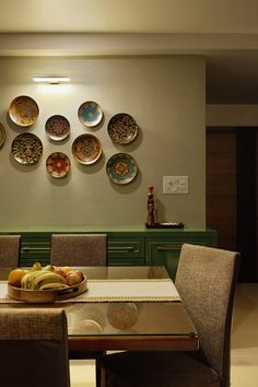 Home Improvement In Today's World. – Home Decor Dining Room Wall Decor, Dining Room Design, Dining Area, Partition Design, Home Decor Furniture, Furniture Ideas, Plates On Wall, Decoration, House Design