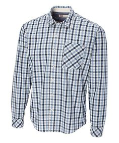 Washed Blue James Gingham Button-Down - Big & Tall