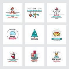 Christmas and New Year greeting cards on Behance
