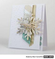 Shari Carroll: …my world – Life and Crafting - 12/22/12.  (Hero Arts Fancy Frames: Snowflake DI064).