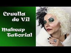 Cruella De Vil Makeup Tutorial - YouTube