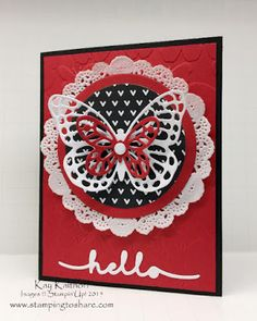 Stamping to Share: Greetings Butterfly Card with How To Video