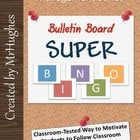 Bulletin Board Super BINGO- A bulletin board sized bingo board with tips, hints, and suggesti. Classroom Timeline, Classroom Bulletin Boards, Classroom Rules, Future Classroom, School Classroom, Classroom Organization, Classroom Ideas, Classroom Inspiration, Classroom Behavior Management