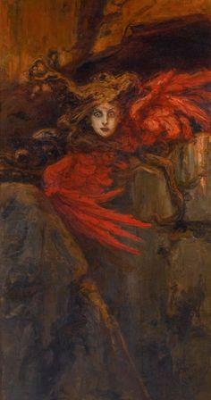 Vasily Alexandrovich Kotarbinsky (Russian, Medusa, Oil on canvas, 211 x cm, 83 x 44 in. Dark Fantasy Art, Fantasy Kunst, Dark Art, Art And Illustration, Arte Horror, Horror Art, Art Sinistre, Art Noir, Art Ancien