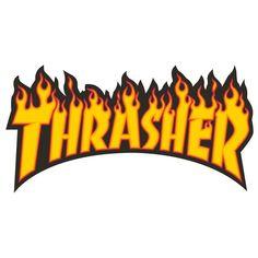 Thrasher Magazine Flame Logo Large Assorted Colors Skate Sticker - 5 x 10 at Warehouse Skateboards Surf Stickers, Meme Stickers, Tumblr Stickers, Phone Stickers, Cool Stickers, Thrasher Logo, Thrasher Flame, Tumblr Skate, Mode Logos