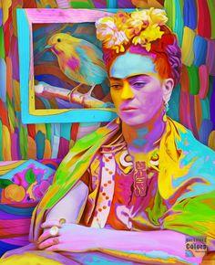 """Por favor dale Retweet si te gusta mi trabajo artistico """"Un dia en vida de Frida Kahlo""""http://aramisfraino.deviantart.com/"""