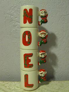 Vintage ELF PIXIE NOEL Stackable Christmas Mug by stonecreekfinds, $18.00