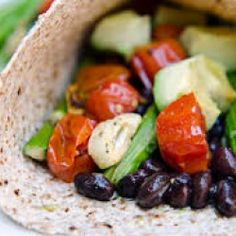 Asparagus and Black Bean Tacos with Avocado Cream | Puget Sound Fresh