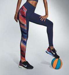 Bas de sport femme pantalon leggings bleu et motifs  BAS BLEU RAINBOW S M L XL #Pantalonscaleonsleggings
