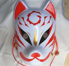 Cheap Envío gratis pintado a mano máscara del zorro japonés PVC la cara llena de Halloween partido de la mascarada máscaras, Compro Calidad Máscaras directamente de los surtidores de China:  Máscara pintada a mano