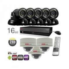 Surveillance System Bundle - 16 Channel DVR with Storage and 8 HD CCTV Cameras (Indoor/Outdoor, Weatherproof, Day Night Vision) Dome Camera, Surveillance System, Security Camera, Night Vision, Indoor Outdoor, Cameras, Channel, Storage, Day