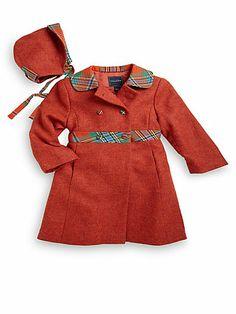 Oscar de la Renta - Infant's Two-Piece Wool Coat & Hat Set - Saks.com