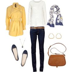 Yellow and Blue, created by #bluehydrangea on #polyvore. #moda #style rag & bone Labour of Love