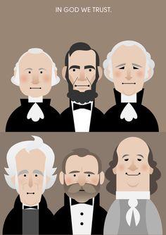 US presidents (washington, lincoln, jackson, grant, franklin, hamilton)