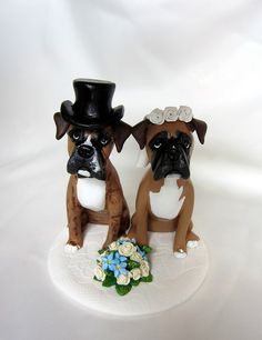 wedding cake topper with dog 1000 images about fimo on boxer dogs polymer 8811