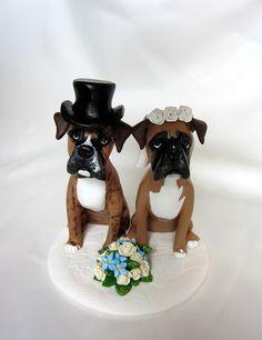 Boxer dog Wedding Cake Topper   Flickr - Photo Sharing!