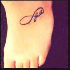 My tattoo. Infinite faith, walk by faith, faith in an infinite God.