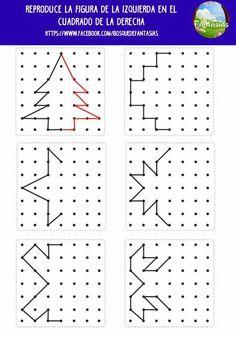 Preschool Worksheets, Teaching Math, Math Activities, Preschool Activities, Coding For Kids, Math For Kids, Symmetry Worksheets, Visual Perceptual Activities, Material Didático